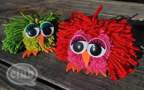 owl-crafts-pom-pom-owls