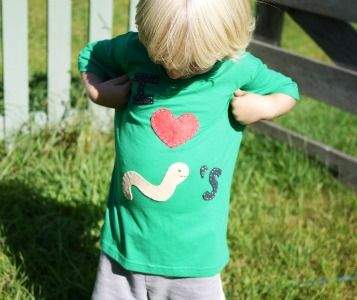 craft-appliques-on-childs-t-shirt