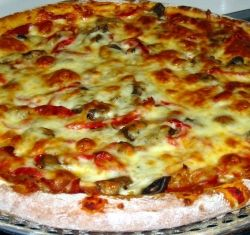 All-dressed pizza pie