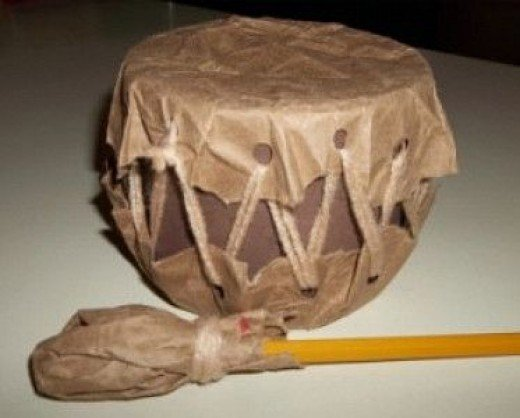 Image result for native american kids art and crafts Making Aztec or American Indian Drum Banks