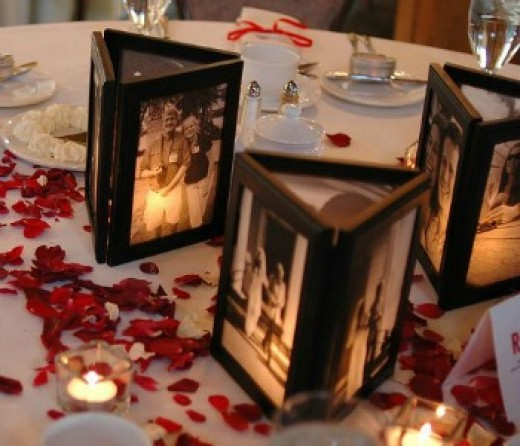 lighted photo centerpiece