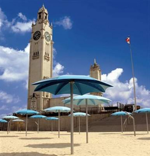 concept image of the clock tower beach