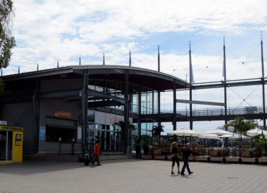 Jacques Cartier Pavilion, one of several on the waterfront