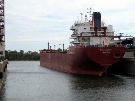 Ship is docked in the King-Edward basin. Looks Deep!