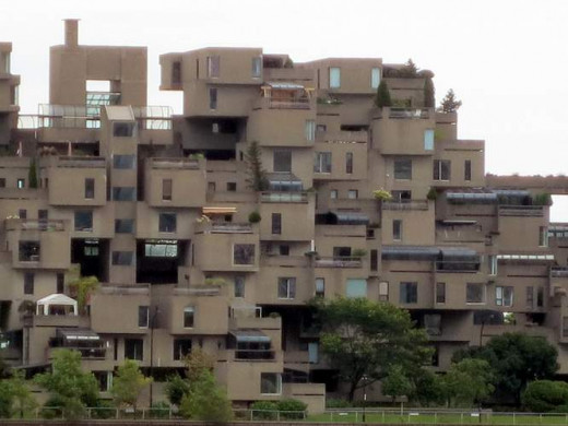 The Habitat. Seen from the Old Port, built for Expo 67. It's still full of residents.