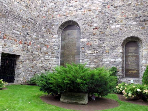 Grey Nuns. Amazing original brick work and lists of names on the windows.