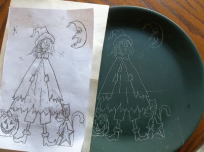 painting-halloween-plate-2