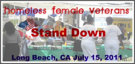 Calirornia's First Homeless Female Veterans Stand Down