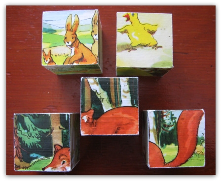 Kathy McGraw's photo of cube puzzles and activities