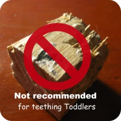 Wooden Block Puzzles aren't safe for Teething Toddlers