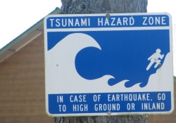 Tsunami Hazard Zone Photo by Kathy McGraw