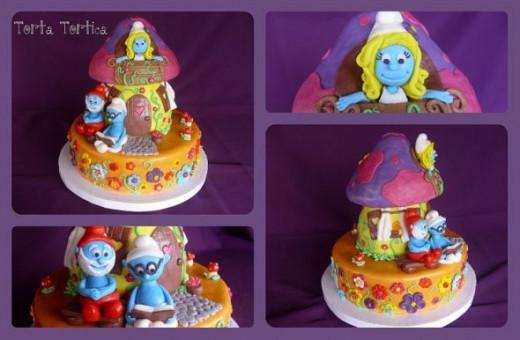 Smurf Cake by Torta Tortica