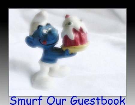 Smurf Party Planning Ideas Guestbook