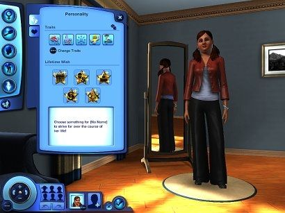 Create a Sim in Sims 3: Giving your Sim Personality