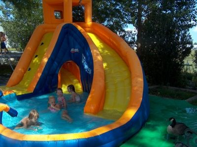 These pictures were taken in our backyard during the summer of 2007. These kids are having the time of their life!
