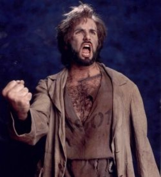 Jordan Bennett as Jean Valjean. This image released into Public Domain by the actor.