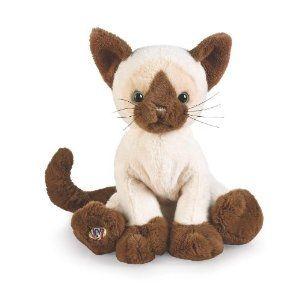 Webkinz Siamese Cat / Kitten. Includes Free Webkinz In Game Code