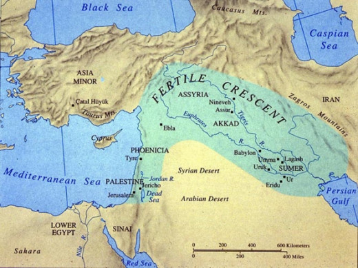 Map of Sumer and Akkad