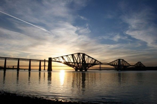 Forth Bridges separate Edinburgh and Fife