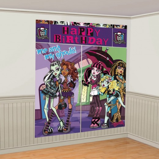 Monster High Birthday Party Wall Decoration Picture taking