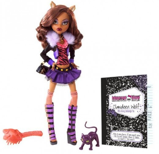 Clawdeen Wolf Doll with Pet Cresent