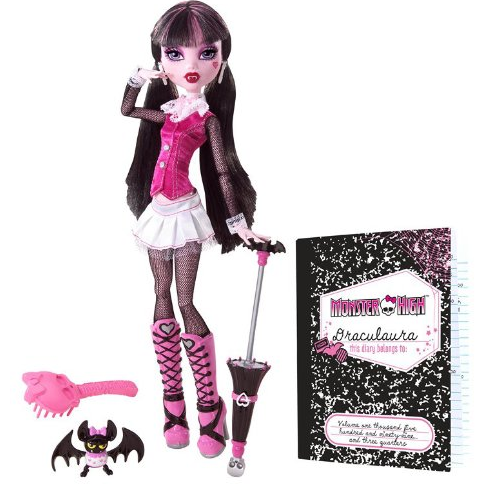 Draculaura with Count Fabulous Pet Bat
