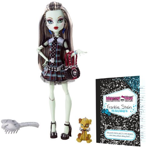 Frankie Stein Doll with Pet Watzit