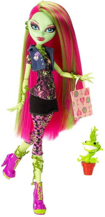 Venus McFlytrap Doll with Pet Chewlian