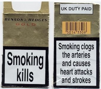 Cigarette warning in the United Kingdom