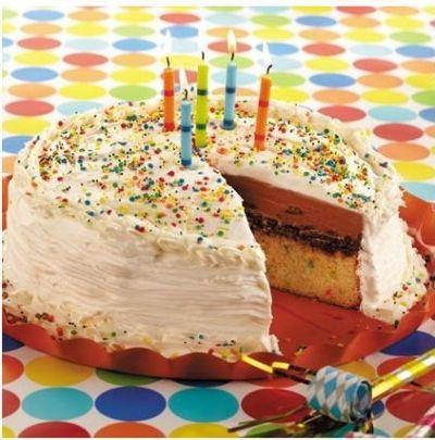Funfetti Confetti Ice Cream Cake