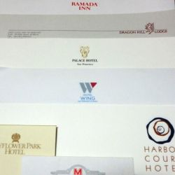 Some more of my hotel stationery