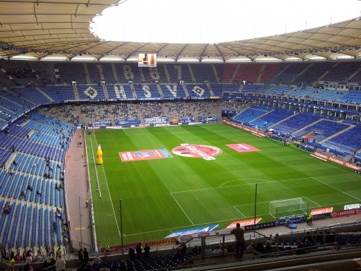 Imtech Arena - Hamburg (not an English Football League ground but Impressive none-the-less!)