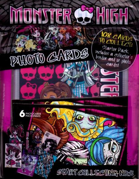 Monster High Panini Photo Cards Starter Pack Binder Album