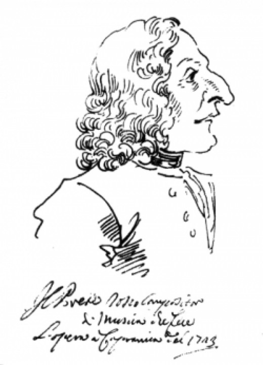 caricature of antonio vivaldi