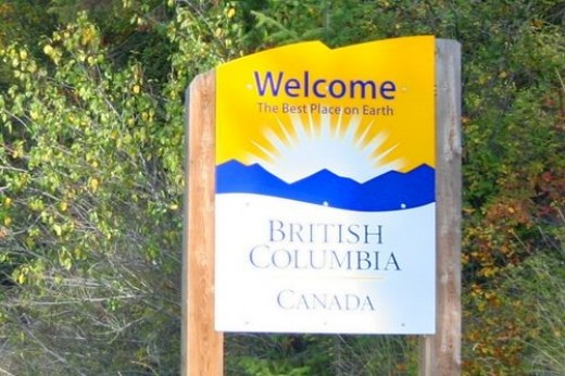 Arriving in British Columbia