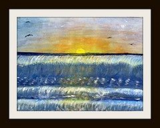 Sunset Waves by Linda Hoxie