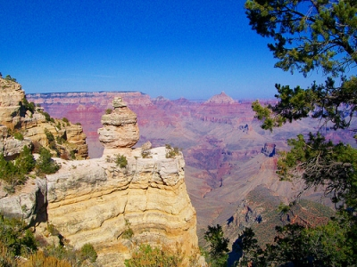 The perfect view of the Grand Canyon