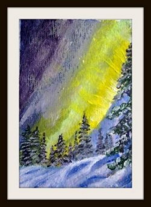 The Northern Lights by Artist Linda Hoxie