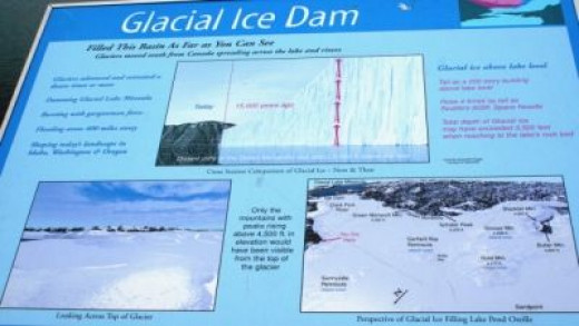 This tells how Lake Pend Orielle was formed by that Glacier
