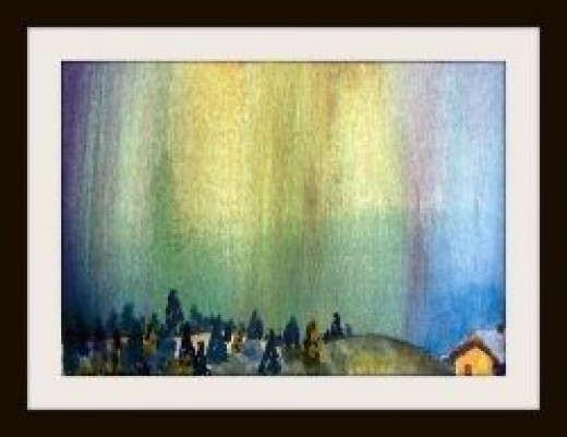 where to see the northern lights by Artist Linda Hoxie