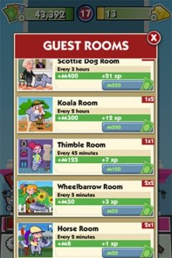 Monopoly Hotels Guest Room Prices