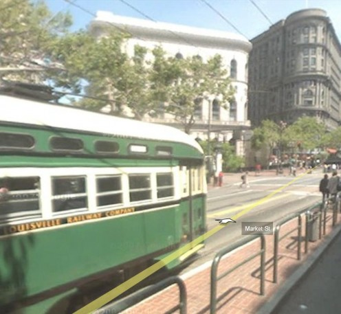 Nearing the Market Street and Powell Street Car Turnaround