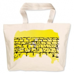 Western Wall Canvas Bag