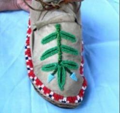 Native American Moccasin Repairs