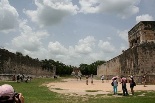 A view of the Mayan Ball court