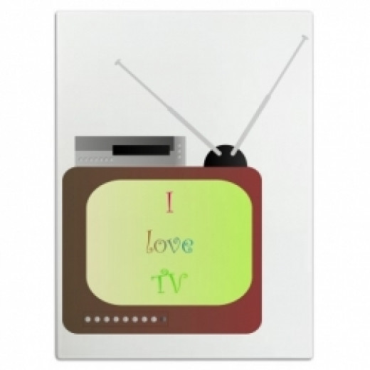 I Love TV Cutting Board
