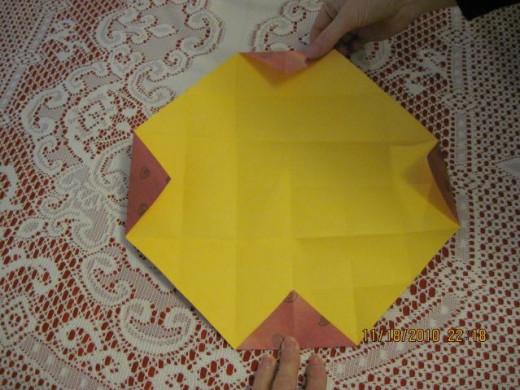 Fold all corners