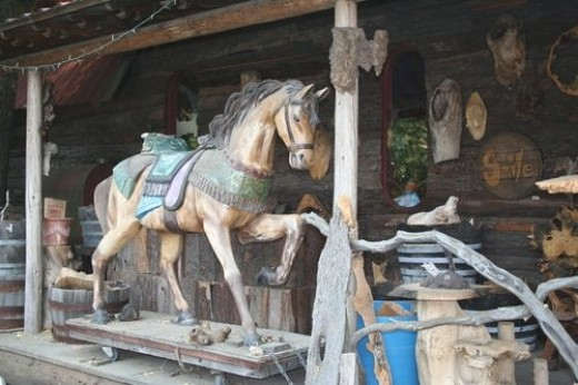 Hand carved carousel horse