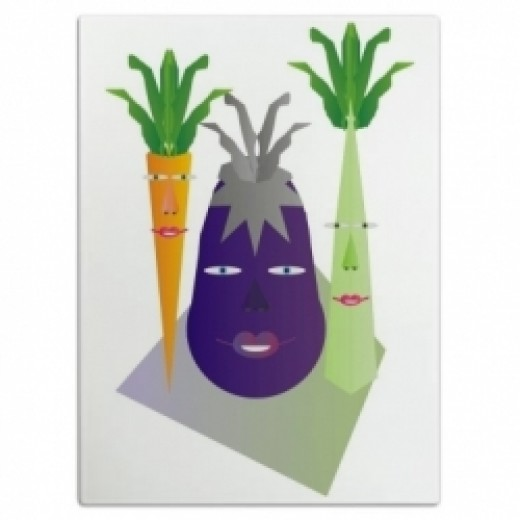 Vegetables On Parade Cutting Board