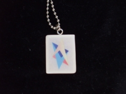 Jewish Star Tile Necklace